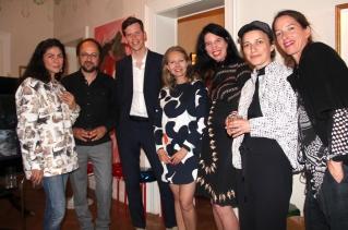 v.l.n.r. Julieta Aranda, Franz Wanner, Dr. Daniel Bürkner, Joanna Warsza, Flaka Haliti, Nan Mellinger