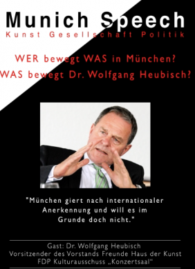 MUNICH SPEECH MIT DR. WOLFGANG HEUBISCH | 20. MÄRZ 2015 |
